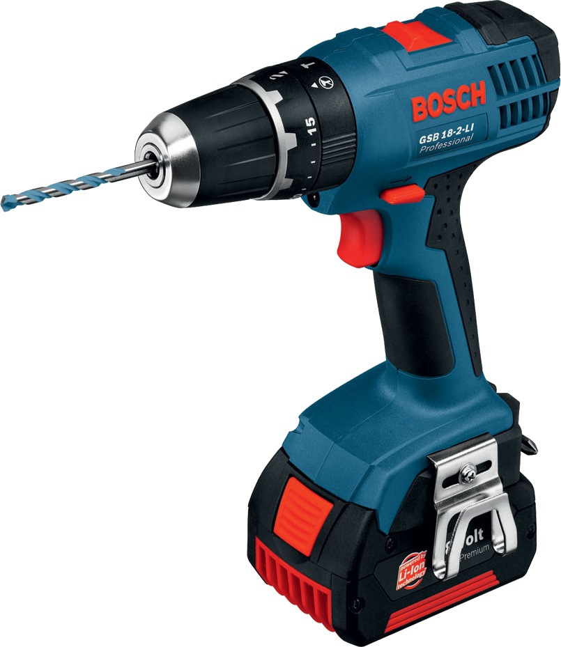 bosch 18v 2x2 0ah li ion impact drill gsb18 2 li. Black Bedroom Furniture Sets. Home Design Ideas