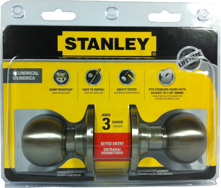Stanley Cylinder Entrance Lock Bala Ss S835918 Door