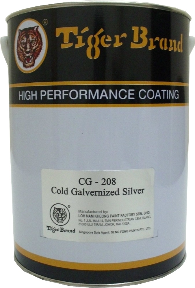 Tiger Cold Galvanising Paint Silver Cg208 5l Wood