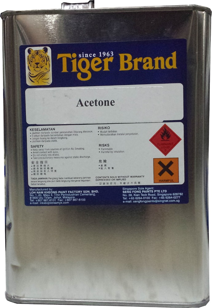 1 2 Cordless Impact >> TIGER ACETONE | Paint Thinners, Solvents & Cleaners | Horme Singapore