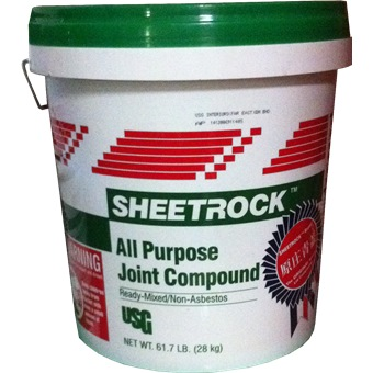 Usg sheetrock joint compound fillers putty for Bathroom joint compound