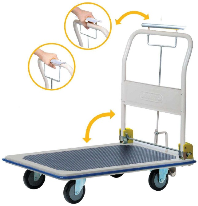 Jumbo Trolley With Hand Brake L940 W615 H885 370kg