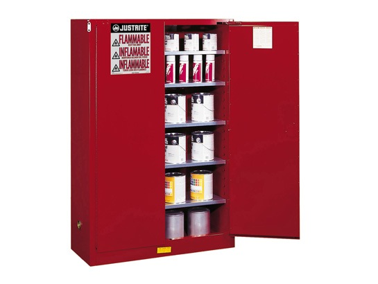 Justrite 60 Gal Cabinet Red P Amp I Manual With Paddle Handle