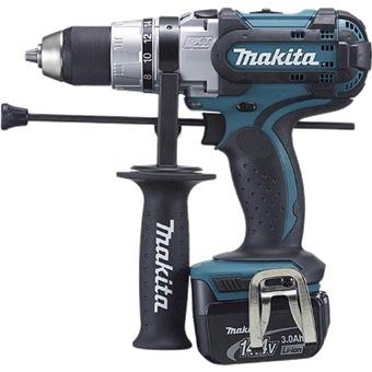 makita 14 4v 3 0ah li ion 13mm hammer driver drill dhp444rfe cordless drills impact drivers. Black Bedroom Furniture Sets. Home Design Ideas