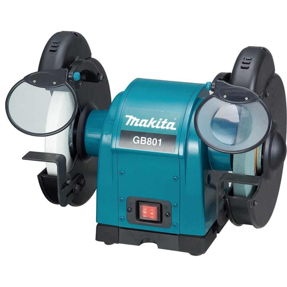 Makita bench grinder 550w gb801 sanding grinding for Table grinder