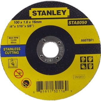 Stanley Cutting Wheel For Stainless Steel Abrasives Horme Singapore
