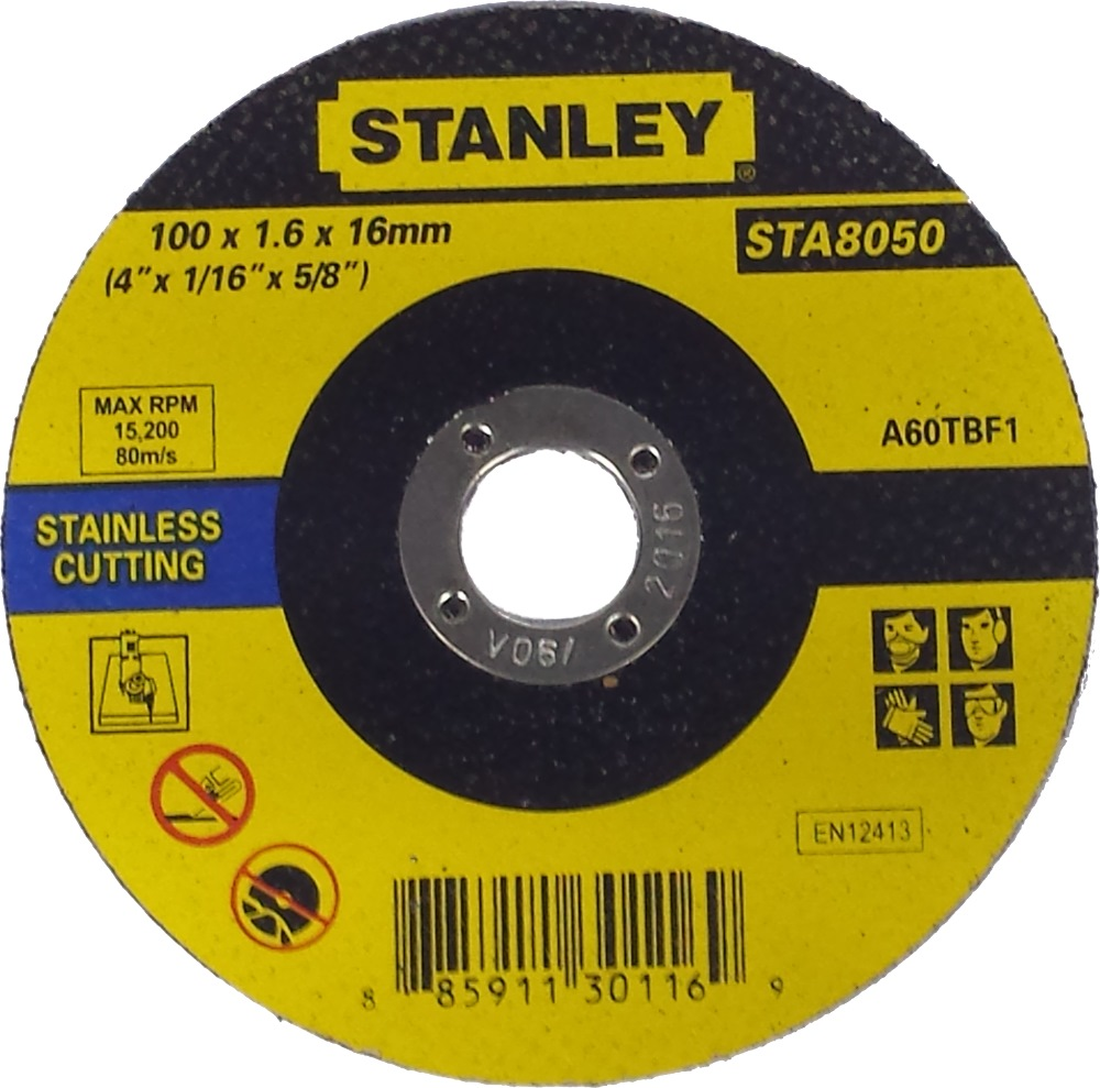 Metal Cutter Agent Singapore: STANLEY CUTTING WHEEL FOR STAINLESS STEEL