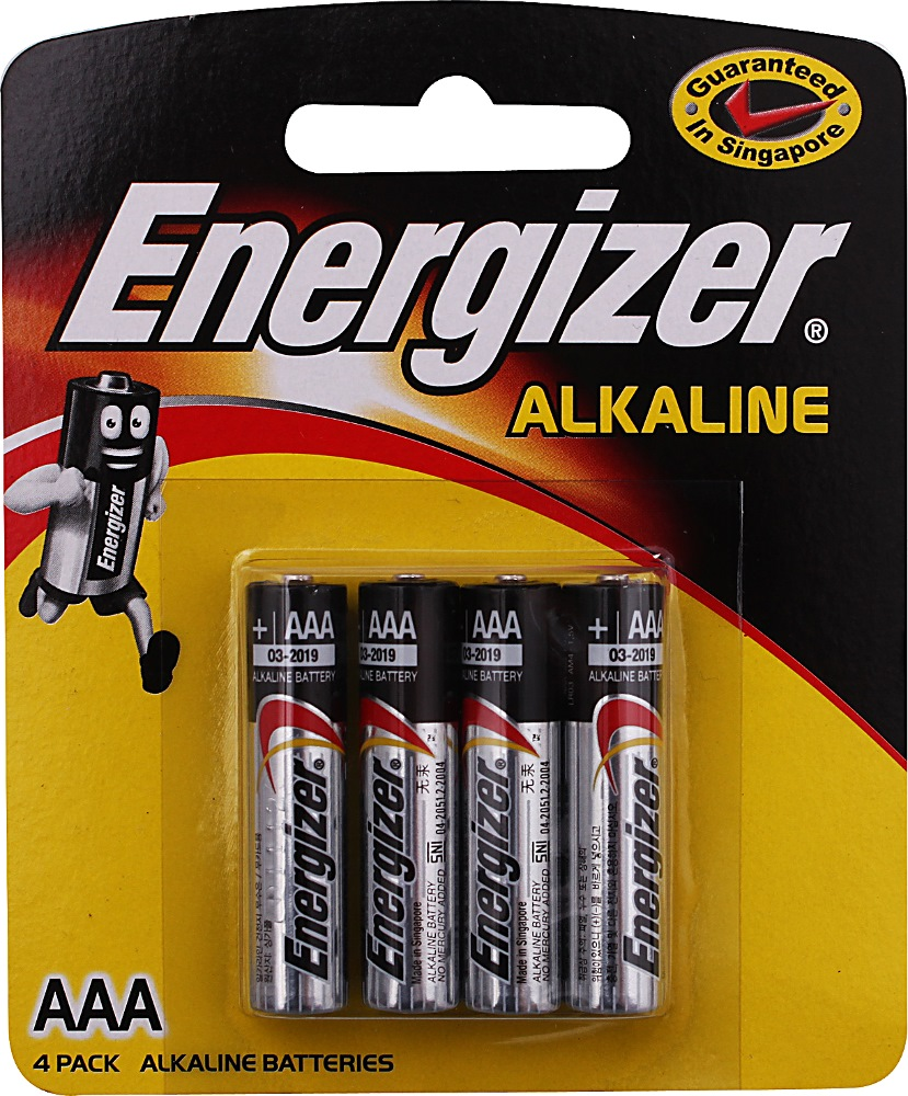 ENERGIZER AAA BATTERY 4/PACK | Household Batteries | Horme