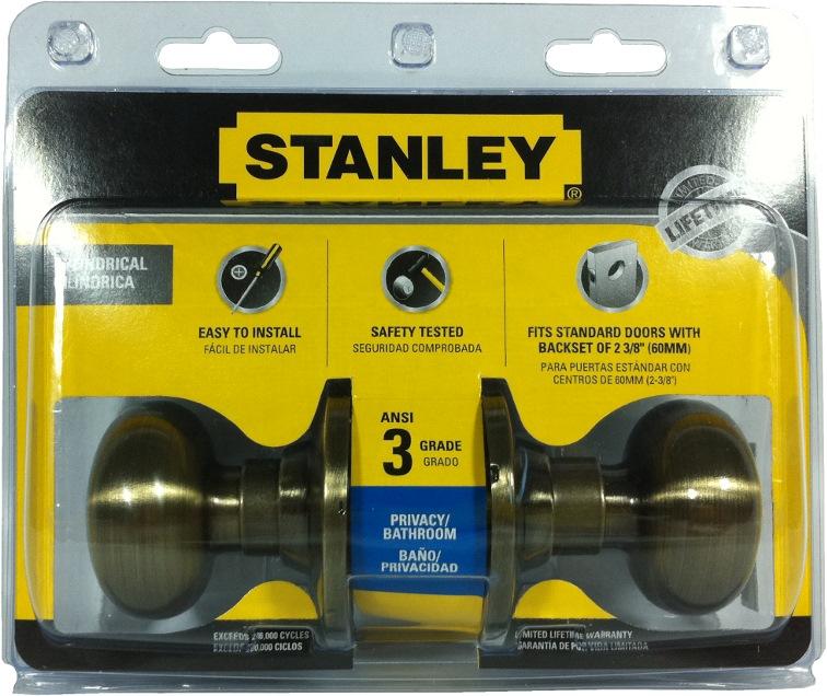Stanley Cylinder Privacy Lock Olympus Ab S835991 Door