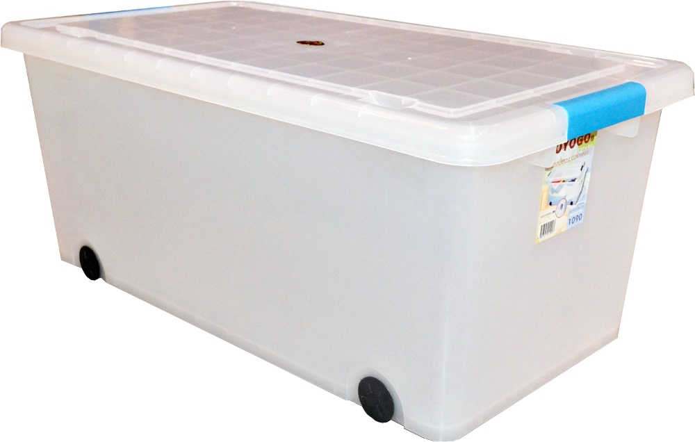 toyogo storage box with cover 55l 1090 storage boxes shelving