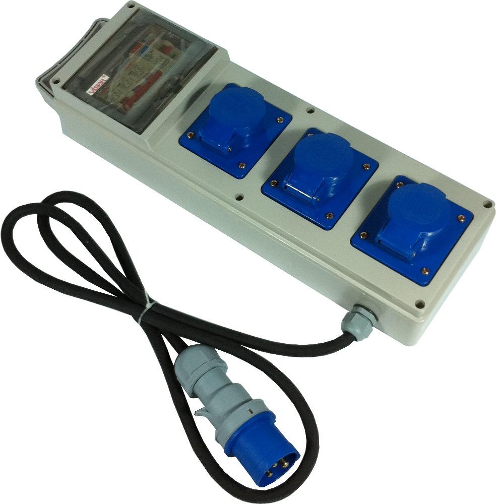 3 Way Ip44 Soa W Rccb Amp 3xmcb Plastic Casing Cables