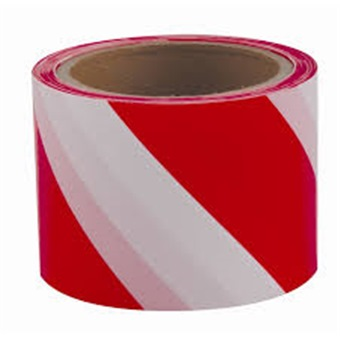 Warning Tape 75mmx40m Red White Adhesive Amp Industrial