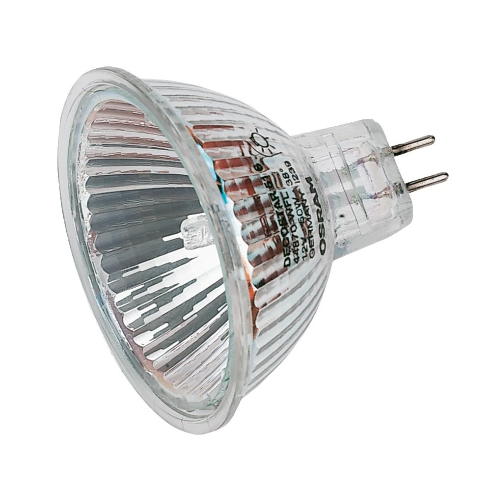 Osram halogen bulb 12v 50w mr16 gu5 3 44870wfl for Where to buy halogen bulbs