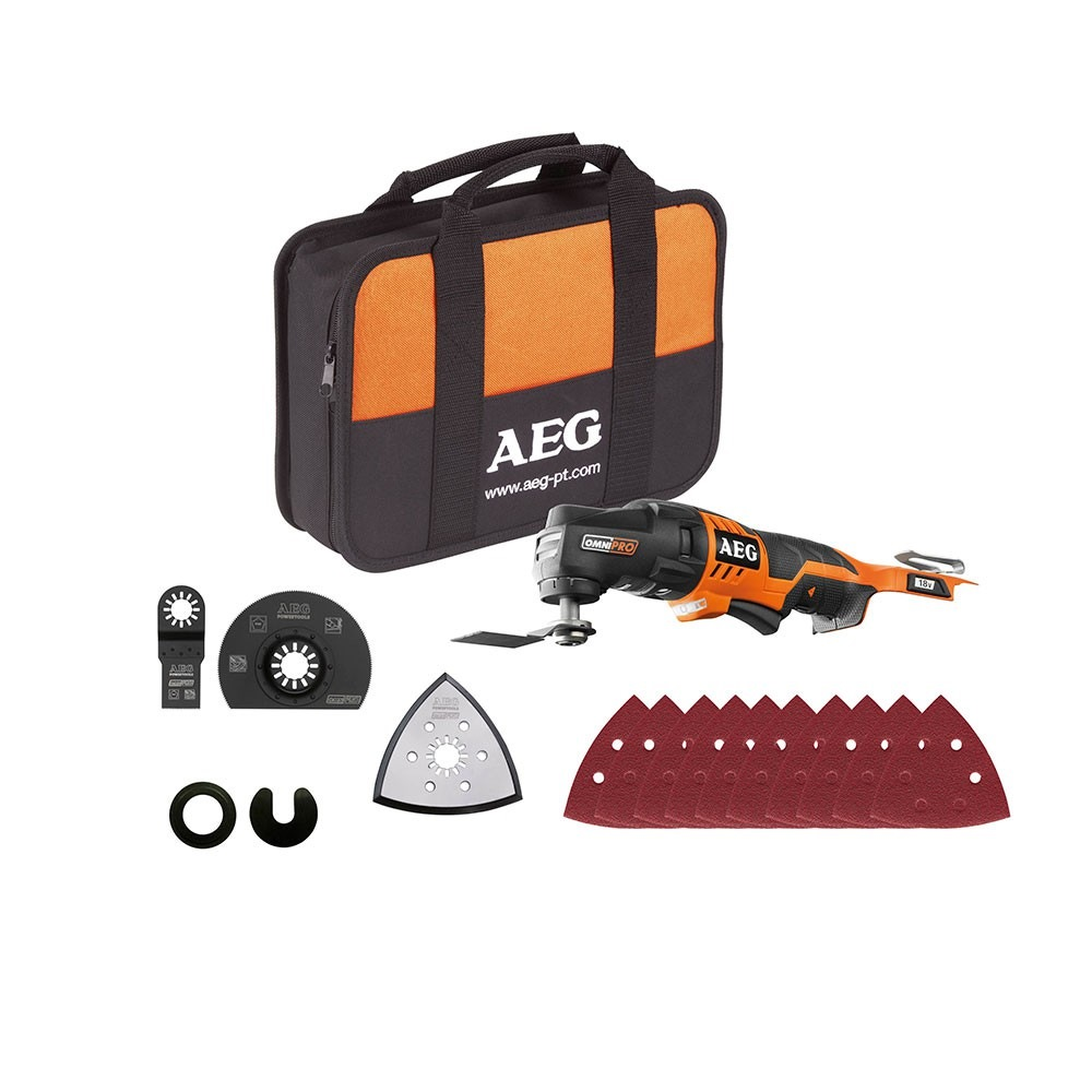 AEG 18V LI-ION OMNI MULTI HEAD TOOL, OMNI18C-0 KIT1 (BARE