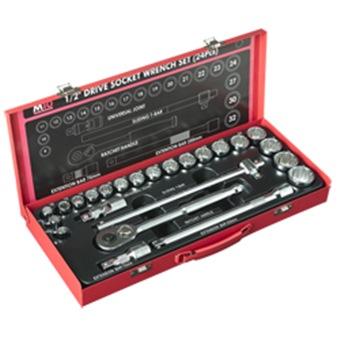 M10 1 2 Sq Socket Set Metric Size 419mb 12pt 24pcs