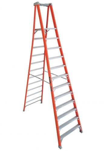 Louisville Hd Pro Extended Rail Fiberglass Podium Ladder