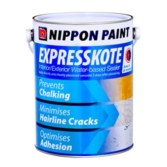 Nippon paint expresskote water based sealer 1l primers for Exterior water based paint