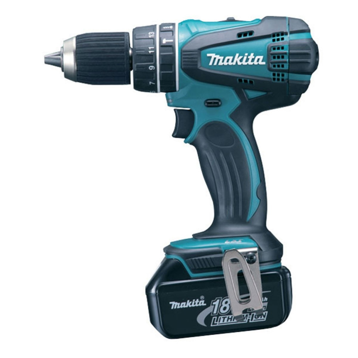makita 18v 4 0ah li ion 13mm hammer drill dhp456rme. Black Bedroom Furniture Sets. Home Design Ideas