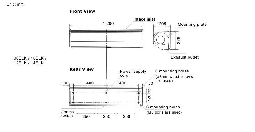 Kdk Air Curtain 4 8ft 08elk Fans Ventilation Amp Air