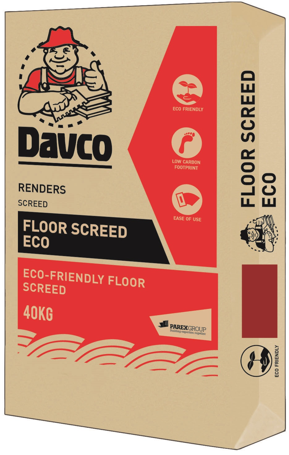 Davco Floor Screed Eco 40kg Bag Fillers Putty