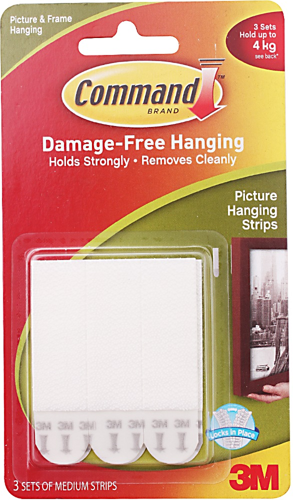 3m Command Medium Picture Hanging Strip 17201 Home Office