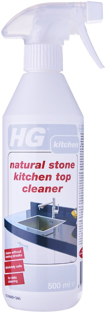 hg natural stone kitchen top cleaner hg340 500ml