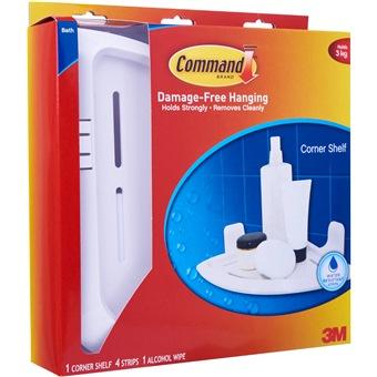 3m command corner shelf 17627b bathroom kitchen for Bathroom ideas 3m x 3m