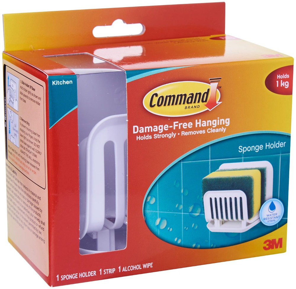 3m command sponge holder 17650 bathroom accessories for Bathroom ideas 3m x 3m