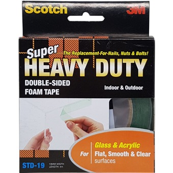 3m Scotch Super Heavy Duty Tape Std 19 Flat Smooth Amp Clear