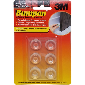 3m Bumpon Hemispherical Small Clear 6ppp 5309 Home