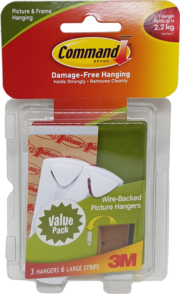 3m Command Wire Backed Picture Hanging Hooks Vp 17043vp Home