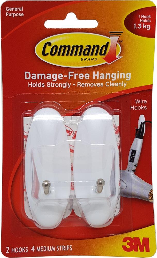 3M COMMAND WIRE MEDIUM HOOKS - 17068ANZ | Home & Office Supplies ...
