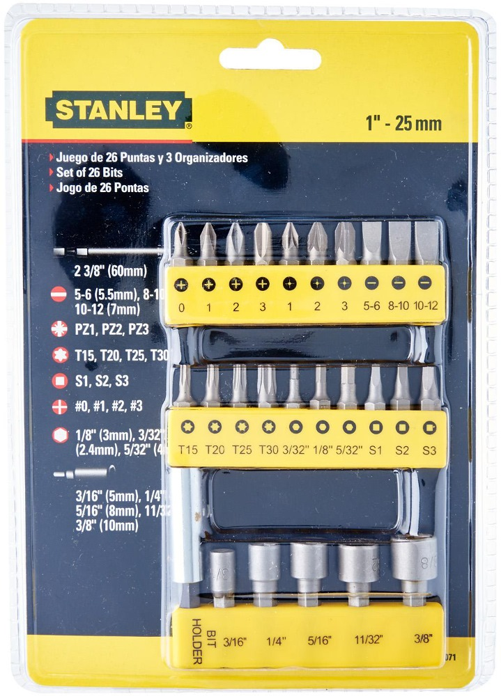stanley screwdriver insert bits set 29pc 68 071 hand tool sets horme singapore. Black Bedroom Furniture Sets. Home Design Ideas