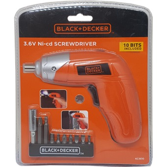 BLACK AND DECKER 3 6V NI-CD SCREWDRIVER KC3610