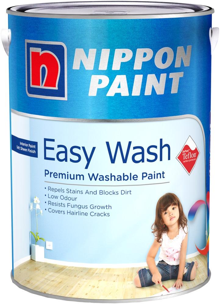 nippon paint easywash with teflon 5l 1378 colours interior paints horme singapore. Black Bedroom Furniture Sets. Home Design Ideas