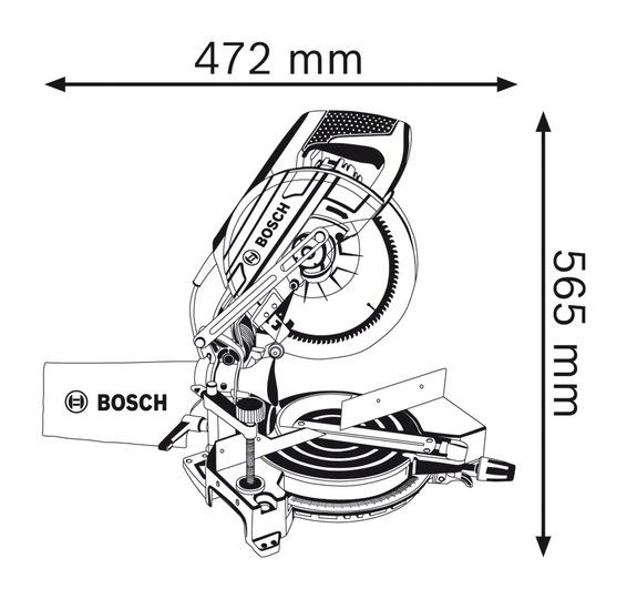 bosch mitre saw  2000w  gcm10m