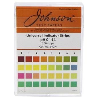 JOHNSON PH STRIPS 0-14 100PC/BOX
