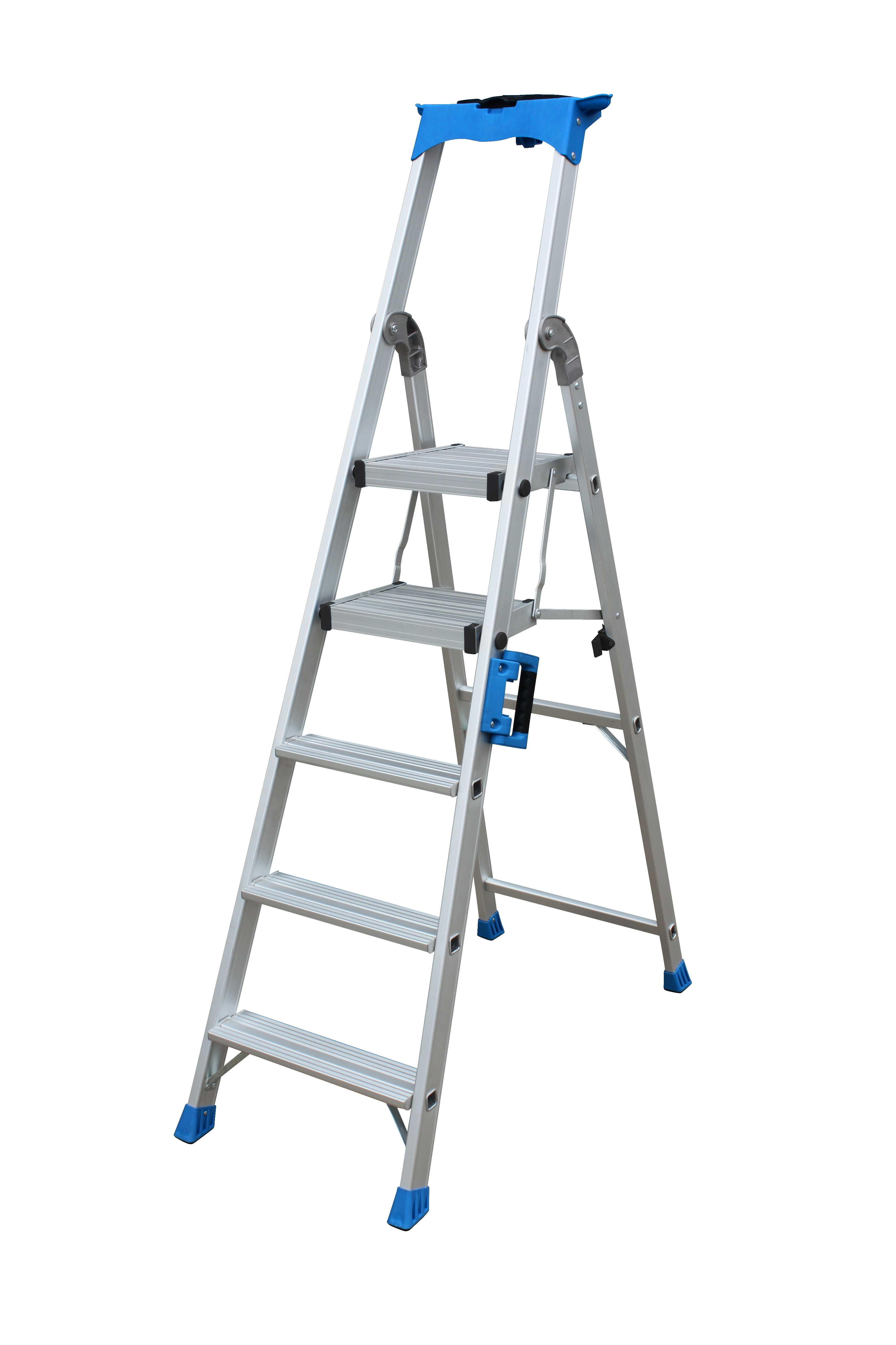 Louison Extra Heavy Duty Aluminium Twin Platform Ladder