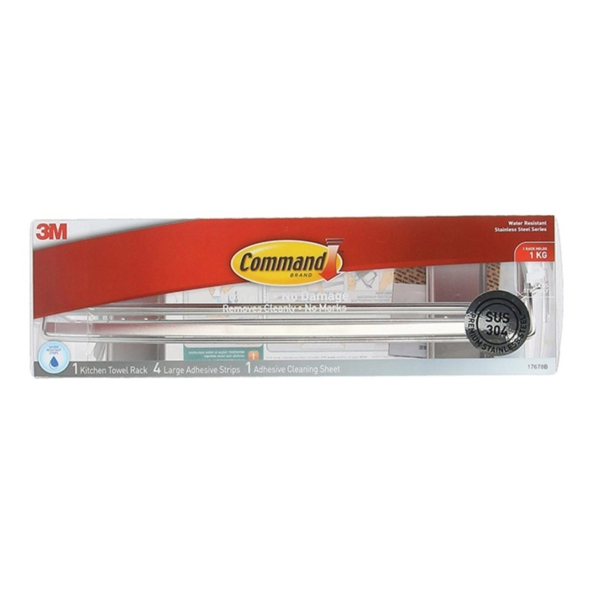 3m Command Stainless Steel Metal Paper Towel Holder 17678b
