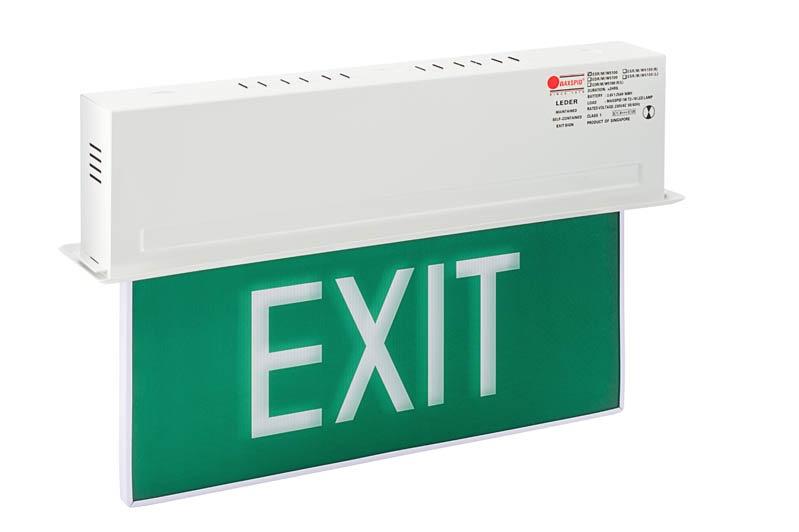 Maxspid Emergency Exit Light Single Side Leder Esr M W5100 Indoor Outdoor Lighting Horme