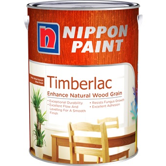 NIPPON TIMBERLAC 1L VARNISH FOR INTERIOR WOOD [6 COLOURS]