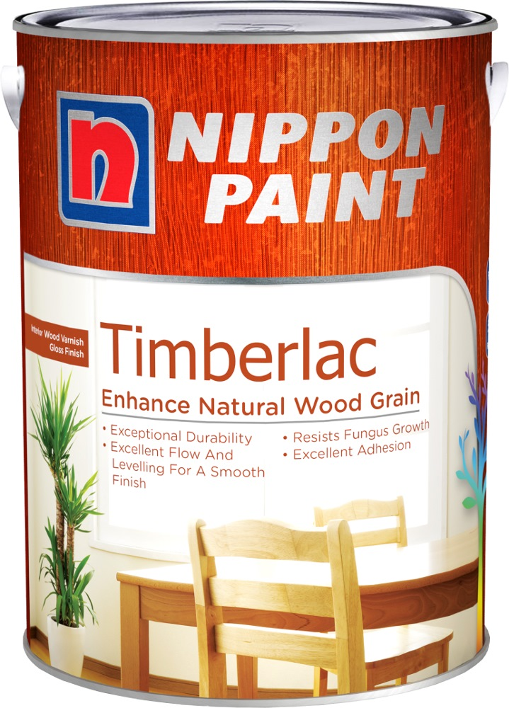 Nippon Timberlac 1l Varnish For Interior Wood 6 Colours Wood
