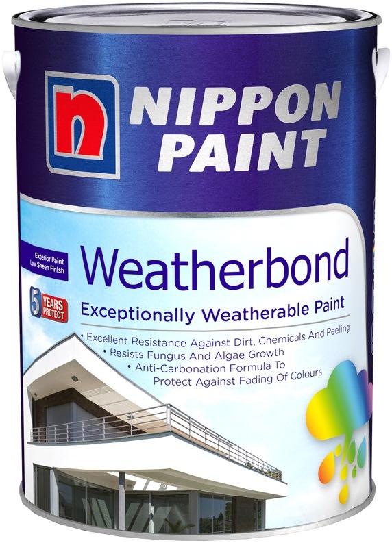 Nippon Paint Weatherbond 5l 1195 Colours Exterior