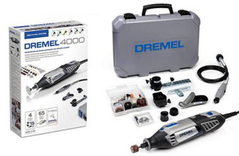 dremel 4000 4 65 rotary tool c w accessories corded oscillating rotary powertools horme. Black Bedroom Furniture Sets. Home Design Ideas