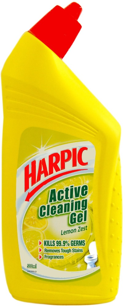 Harpic Liquid Lemon Zest 500ml Hph5003lm Cleaning Supplies