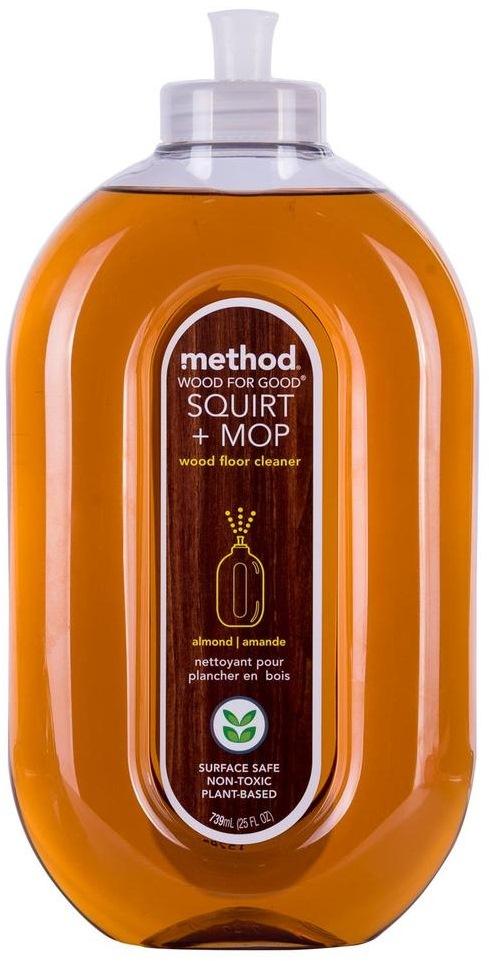 Method Squirt Mop Wood Floor Cleaner Almond 739ml Cleaning