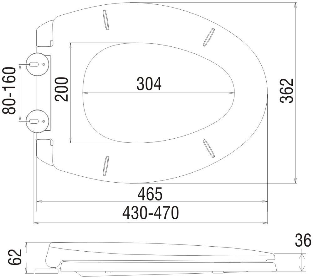 Toilet Seat Dimension