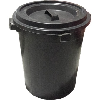 Plastic Rubbish Bin W Cover Trash Amp Recycling Horme