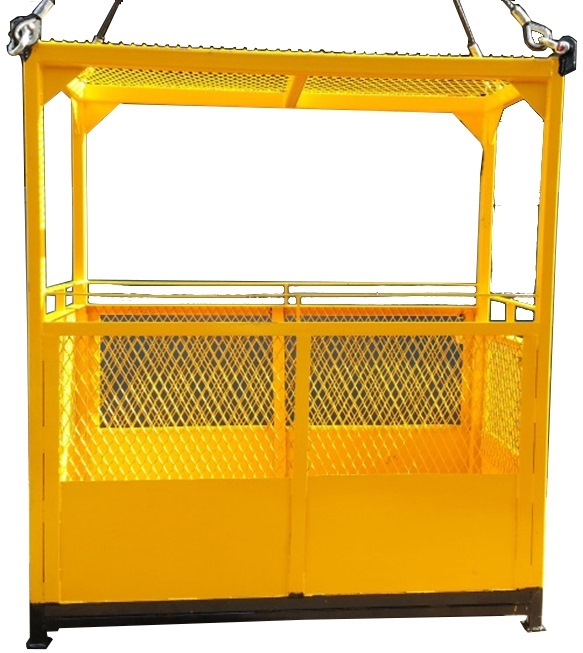 MAN CAGE MOM TESTED LIFT GEAR & PE TEST C/W MOM CERT FOR CAGE MC