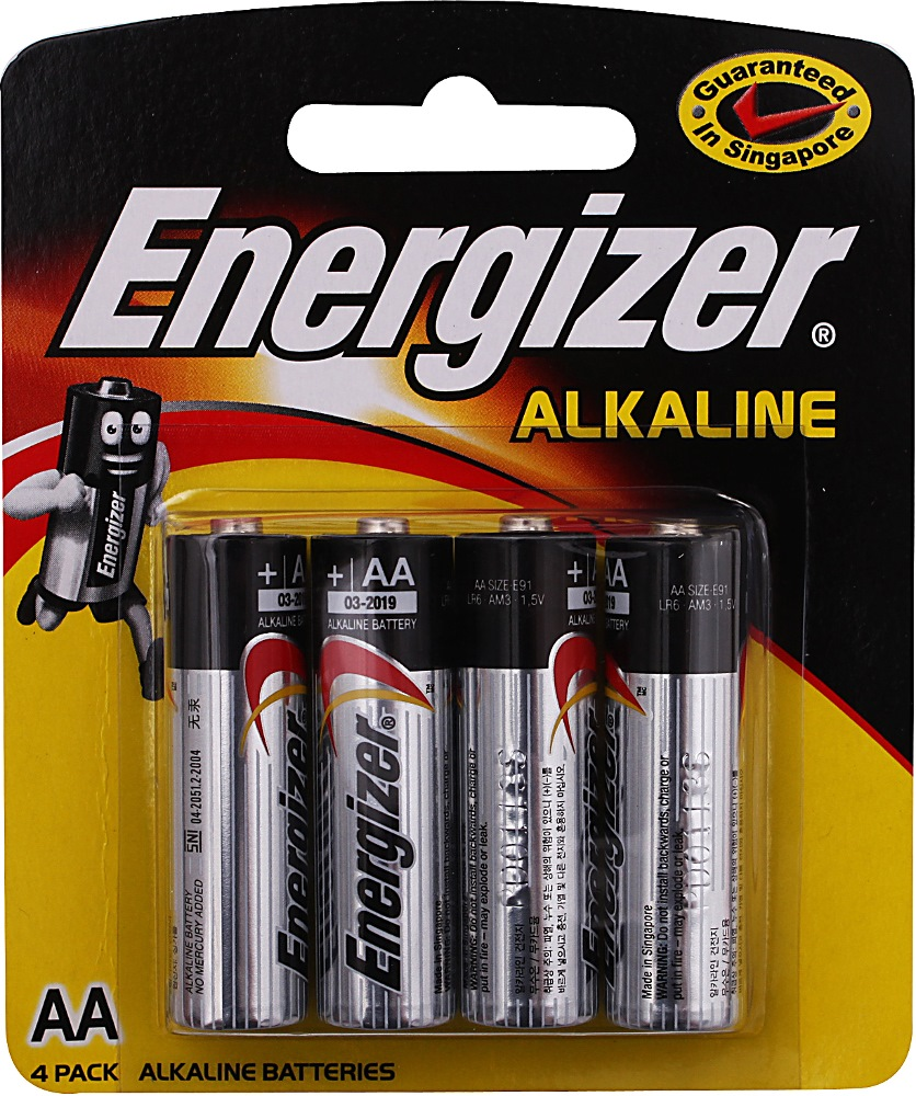ENERGIZER AA BATTERY 4/PACK | Household Batteries | Horme